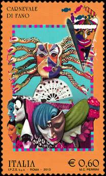 francobollo carnevale di fano